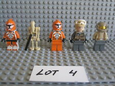 Lego Star Wars Lot 4 Of 5 Star Wars Figures Bomb Squad Trooper / Battle Droidao