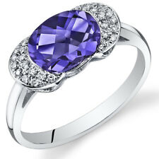 14 Kt White Gold 2.65 cts Alexandrite and Diamond Ring R61844