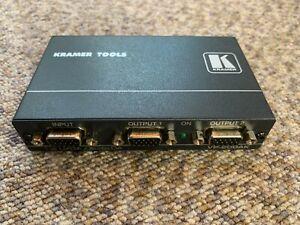 Kramer Tools VP-200AK 1:2 Video & Audio Distribution Amplifier + PSU TESTED