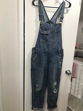 Women's Abercrombie & Fitch Denim Overalls Size XS Jean Pre Owned Jacket Shirt