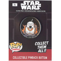 Funko Pinback Buttons - Star Wars Episode 7 - BB-8 (Black Background) (1.25 inch