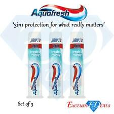 Aquafresh Toothpaste Triple Fresh & Minty Family Protection Pump 100ml x 3