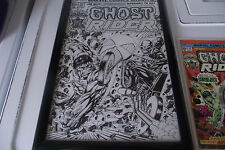 GHOST RIDER #10 original cover art 75-07 HULK Marvel R Wilson Beauty 11X17 LOOK