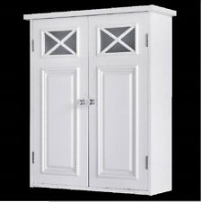Cabinet Wall 2-Door Shelved Organizer Bathroom Kitchen Cabinets Storage Vanity