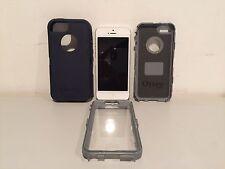 Apple iPhone 5 16GB Silver Smartphone Locked Bad ESN/IMEI Parts Otter Box!