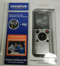 New OLYMPUS VN-702PC Digital Voice Recorder 823 hrs 2GB MicroSD compact w case