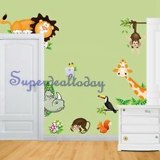 Lion Animals Baby Kid Nursery Room Wall Decals Deco Decor Removable Stickers