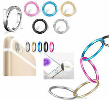 Metal Camera Lens Case & Home button Cover Ring Protector Circle for iPhone 6 7