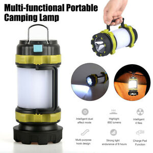 LED Camping Lantern USB Rechargeable Outdoor Phone Charger Tent Lights