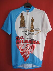Maillot Cycliste 2002 SC Bilbaina De Capilla a Chapelle vintage 90'S Cycles - L