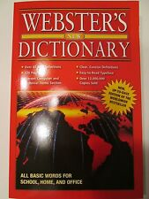 Webster's New Dictionary Learn English Language 65,000 Definitions Paperback