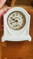 Vintage 1920 WESTINGHOUSE Advertising ELECTRIC RANGE ALARM CLOCK PORCELAIN  old