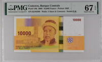 Comoros 10000 Francs ND 2006 P 19 b Superb GEM UNC PMG 67 EPQ