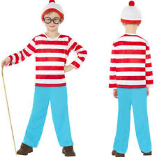 Girls / Boys Where's Wally Wheres Wenda kids costume book day dressing up party