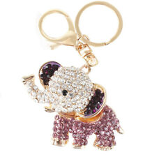 Elephant Lovely Cute New Creative Crystal Pendent Charm Purse Bag Key Chain Gift