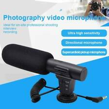 Stereo Microphone Mic for Canon Nikon DSLR Camera DV Camcorder External