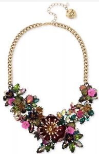 NWT - $165 Betsey Johnson Surreal Forest Flower Statement Frontal Necklace