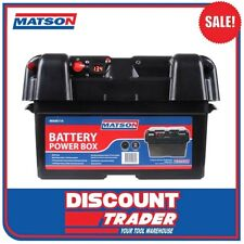 Matson Power Battery Box AGM Deep Cycle Dual System 12V USB MA98119