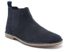 Red Tape Arizona Navy Suede Classic Chelsea Boots RRP £60 !