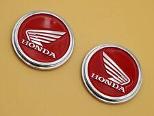 Red Pair Petrol Fuel Tank Emblem Decals for Honda Wing Cafe Racer Bobber Monkey