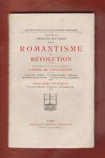 Maurras. Romantisme et révolution. L'avenir de l'intelligence.3 idées politiques