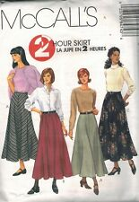 8474 Uncut Vintage McCalls Sewing Pattern Misses 2 Hour Gored Skirt Zipper oop