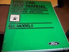 Ford 1980 Car Shop Manual All Models