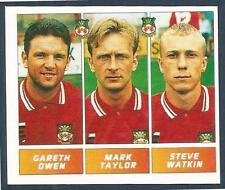 PANINI FOOTBALL LEAGUE 1996- #435-WREXHAM-GARETH OWEN/MARK TAYLOR/STEVE WATKIN