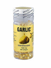 Garlic Oil 3mg (500:1) 300 Capsules 3 Months Supply, Fresh Made In USA FREE SHIP