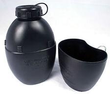 Water Bottle - Waterbottle - 58 Pattern - Black - Plastic - with Mug - 20%OFF 2+
