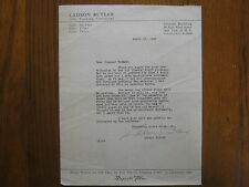 Ladson Butler (Died in 1951) Buffalo/The Sphinx/Magician Signed 1947 Letter