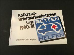 GERMANY BOOKLET 1990 RED CROSS CROIX ROUGE ROTES KREUZ CAR BUS h4950