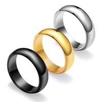 4MM/6mm Gold/Black/Silver Tungsten Band Men Women's Wedding Party Ring Size 4-12