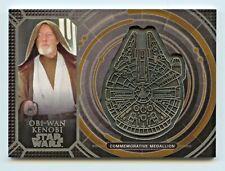 Star Wars 40th Anniv Millennium Falcon medallion card GOLD parallel Obi-Wan 4/10