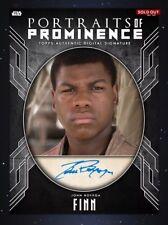 Topps Star Wars Portraits Of Prominence John Boyega Signature DIGITAL Card