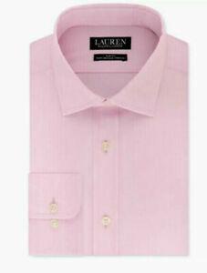 Lauren Ralph Lauren Dress Shirt Slim-Fit No Iron Ultraflex Spread Collar Pink
