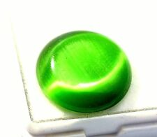 14.25 Carats  ANTIQUE NATURAL GREEN APATITE CAT'S EYE AFRICA Gemstone
