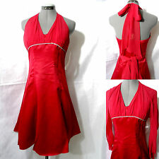 Nwt CINDERELLA Ball Gown Formal Dress XS Red Rhinestone Rockabilly Fit & Flare