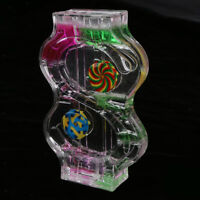"Mix Illusion Liquid Motion ""S"" Shape Floating Slim Oil Hourglass Gadget Toy"