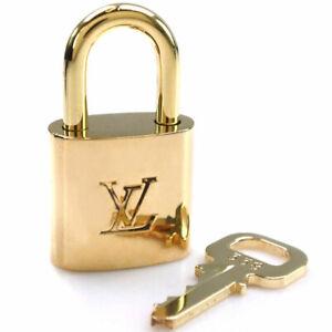 LOUIS VUITTON Random number Padlock & Key Cadena brass unisex