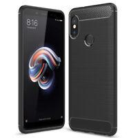 """Coque Silicone Souple en Fibre de Carbone Brossé Xiaomi Redmi Note 5 Pro 5.99"""""""