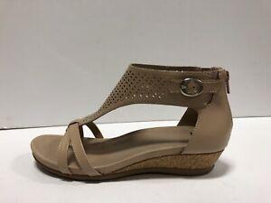 Earth Pisa Olea Womens Wedge Sandal Blush Leather 9 M