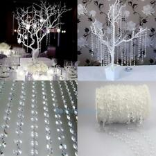 33FT Garland Diamond Acrylic Crystal Bead Curtain Wedding DIY Party Decorations
