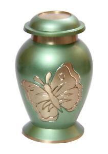 Lite Teal Green Butterfly Small Keepsake Urn