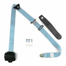 Single Sky Blue 3 Point Retractable Seatbelt w/ Standard Buckle custom parts