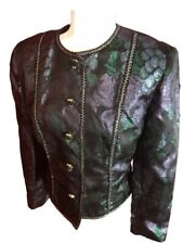 90s Vintage Doncaster multi-color silk thread blazer jacket