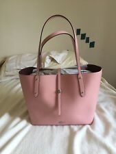 NWT Coach Market Tote Soft Pebbled Leather Peony Silver Hardware Bag Purse Tote