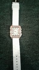womans fashion white watch