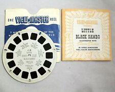 Vintage VIEW-MASTER Single Reel FT-8 LITTLE BLACK SAMBO with Envelope & Booklet