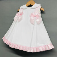Stunning Wee Me Baby Girl Spanish Princess Dress with Pink Bow /Romany